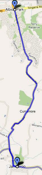 Jamberoo to Albion Park